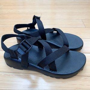 CHACO black adjustable strap sandals, women's 10.